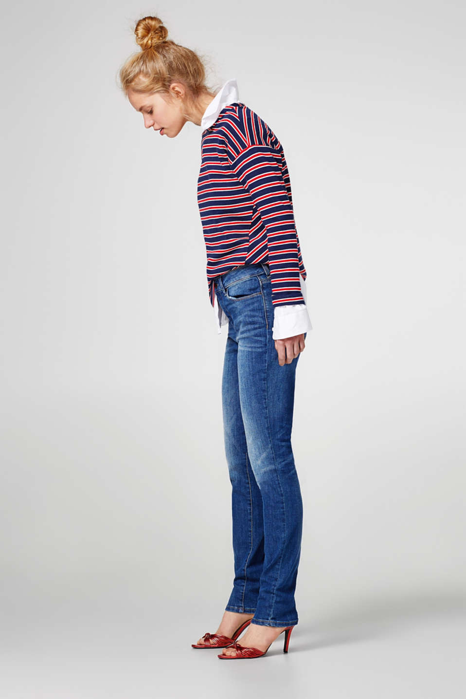 Esprit - Timeless basic jeans in a 5-pocket design