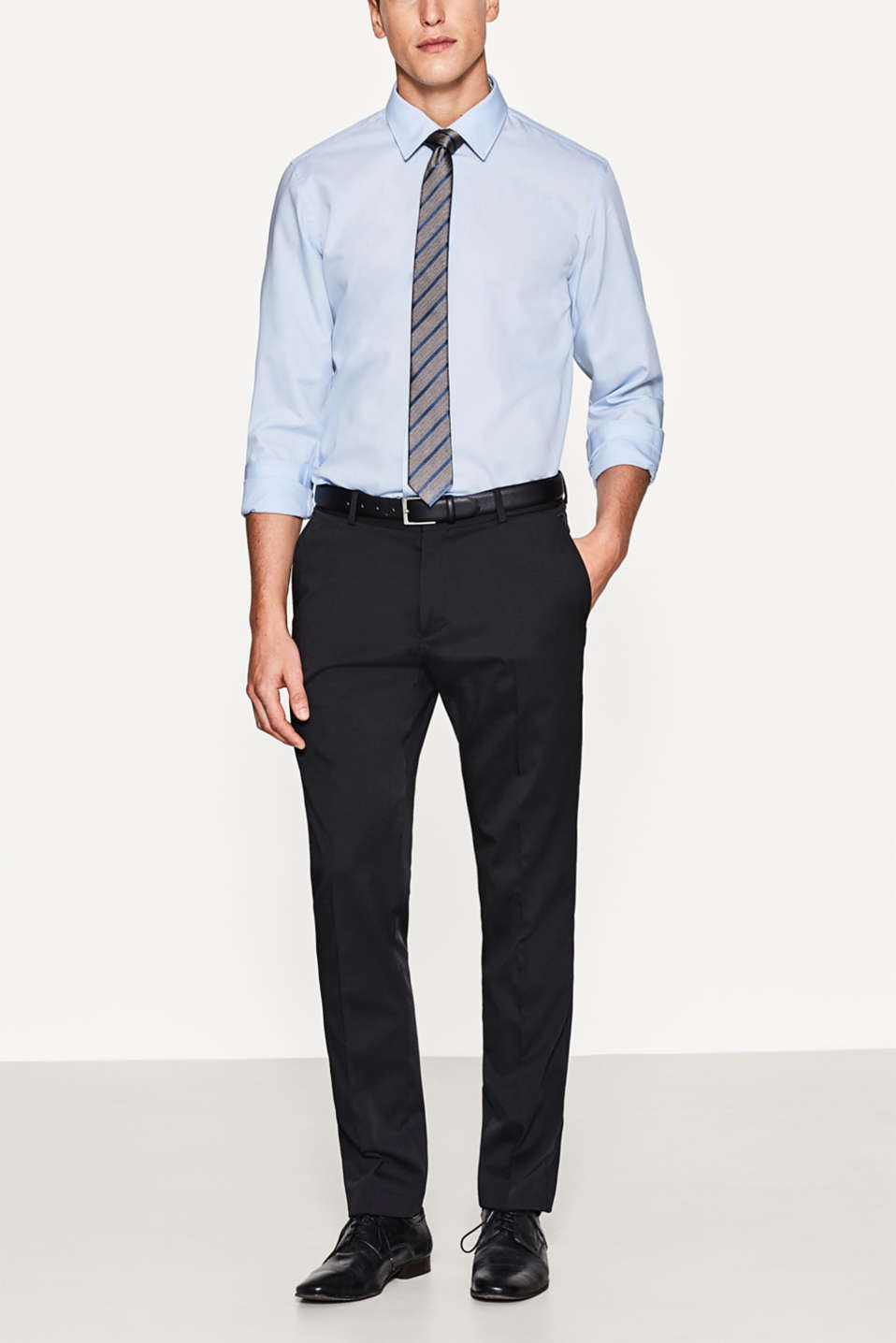 Esprit - Classic suit trousers + stretch for comfort