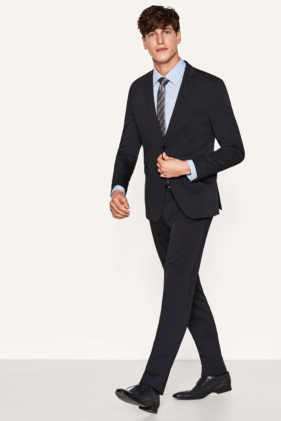 Soft stretchy blazer, technical touch