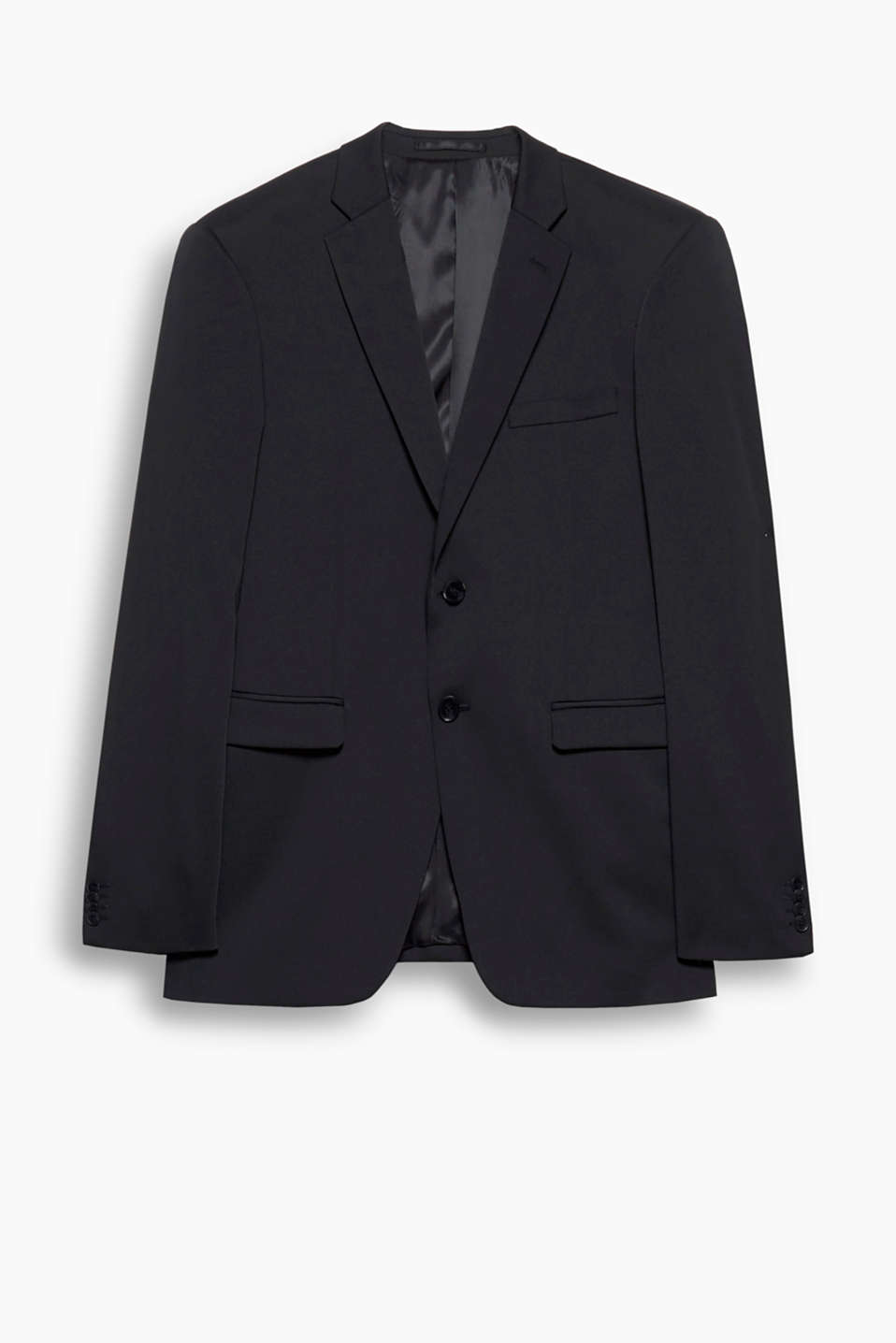 A classic that no wardrobe should be without: this sports jacket with two-button fastening and a narrow lapel.