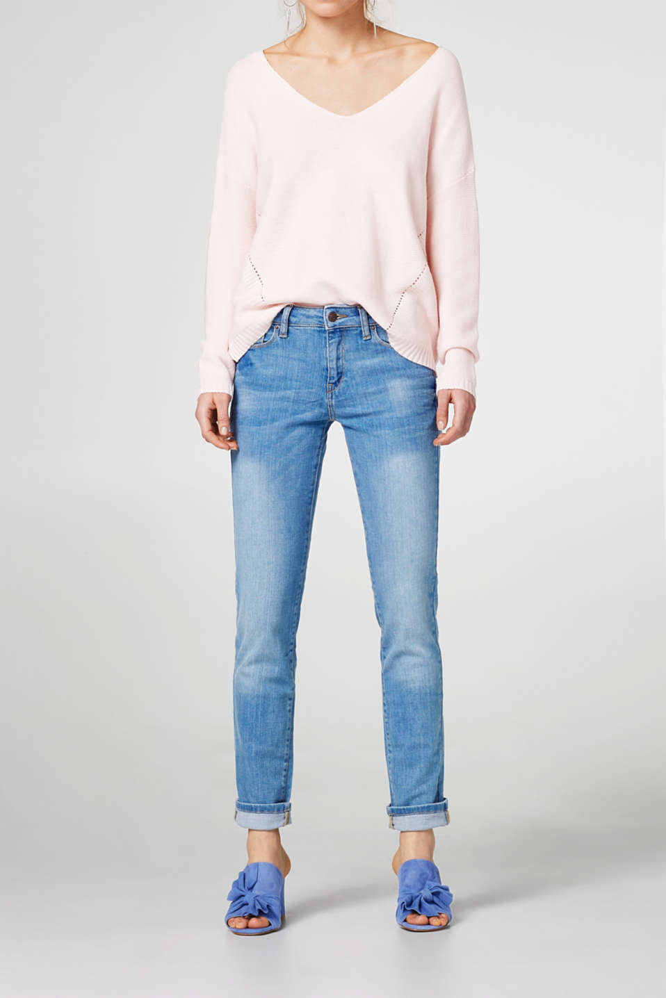 Esprit - Pale stretch jeans in a five-pocket style