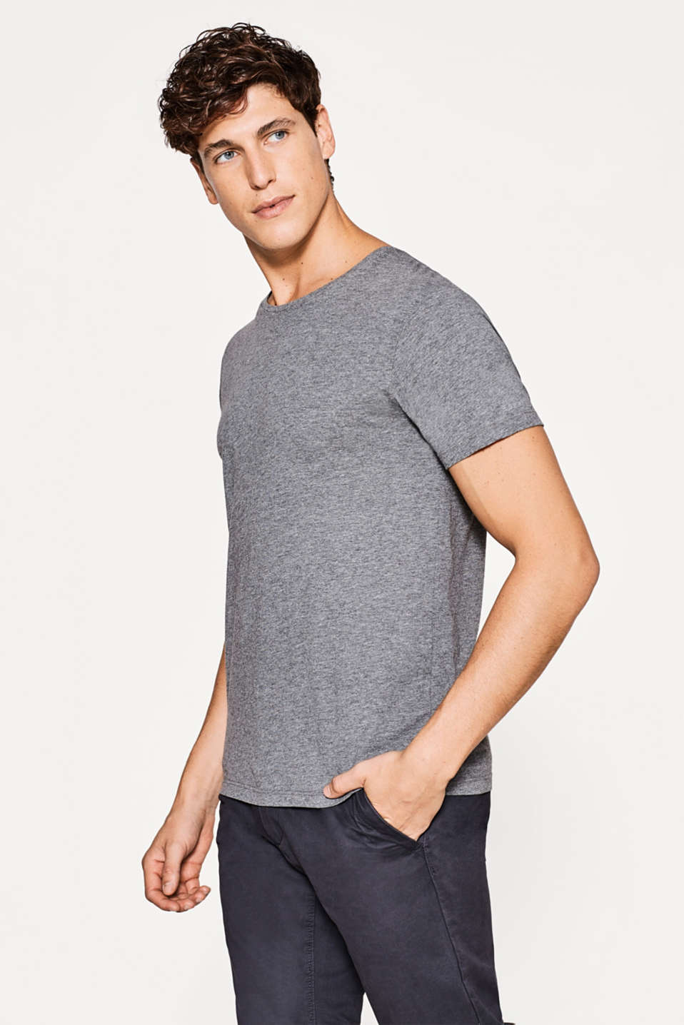 Esprit - Basic pure cotton jersey T-shirt