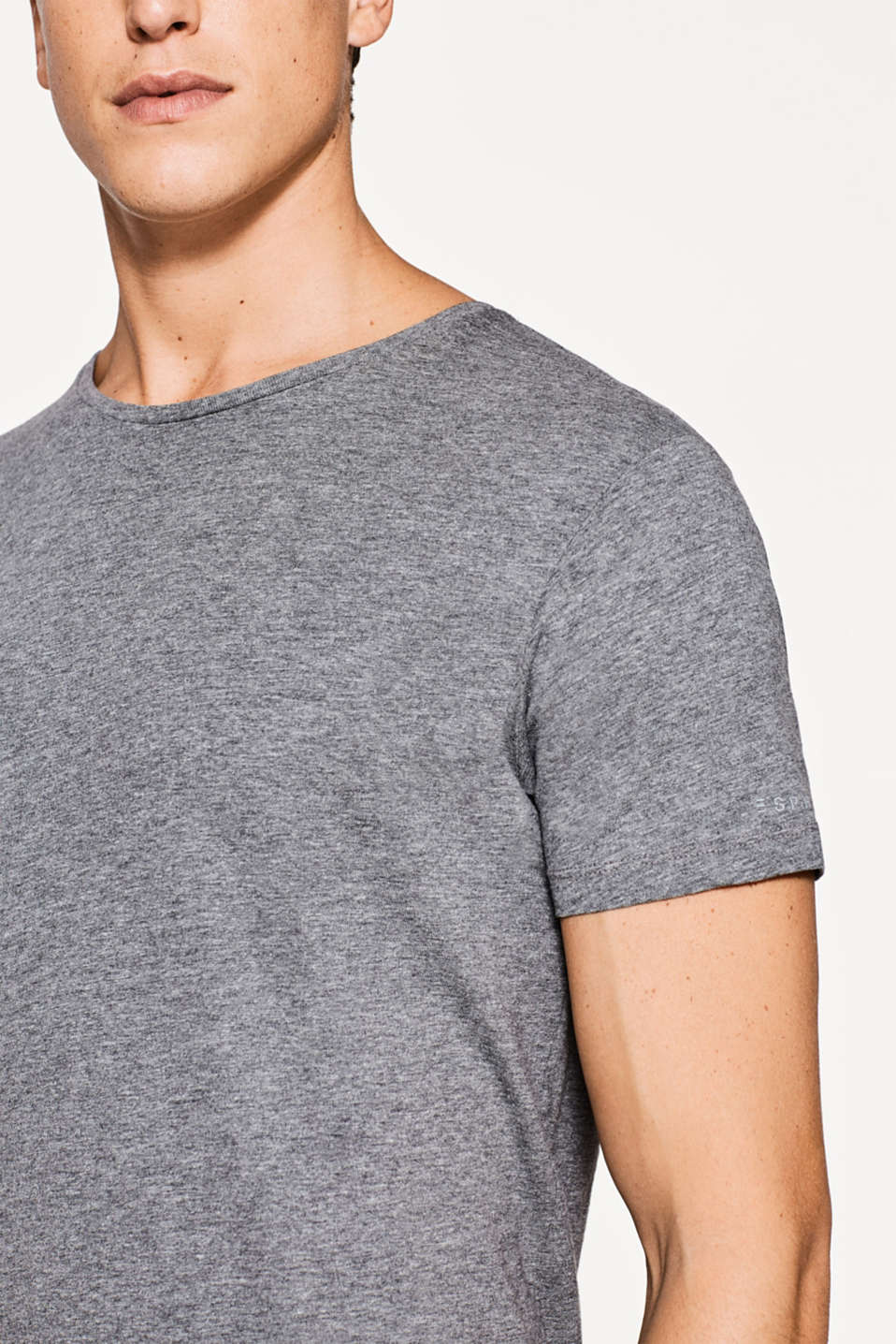Basic pure cotton jersey T-shirt