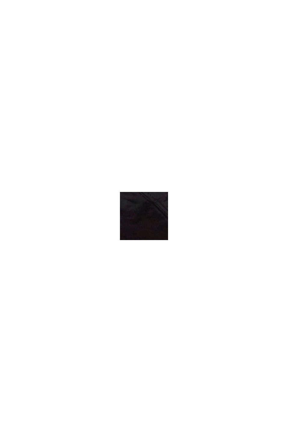 Upolstret bøjle-bh med blondebesætning, BLACK, swatch