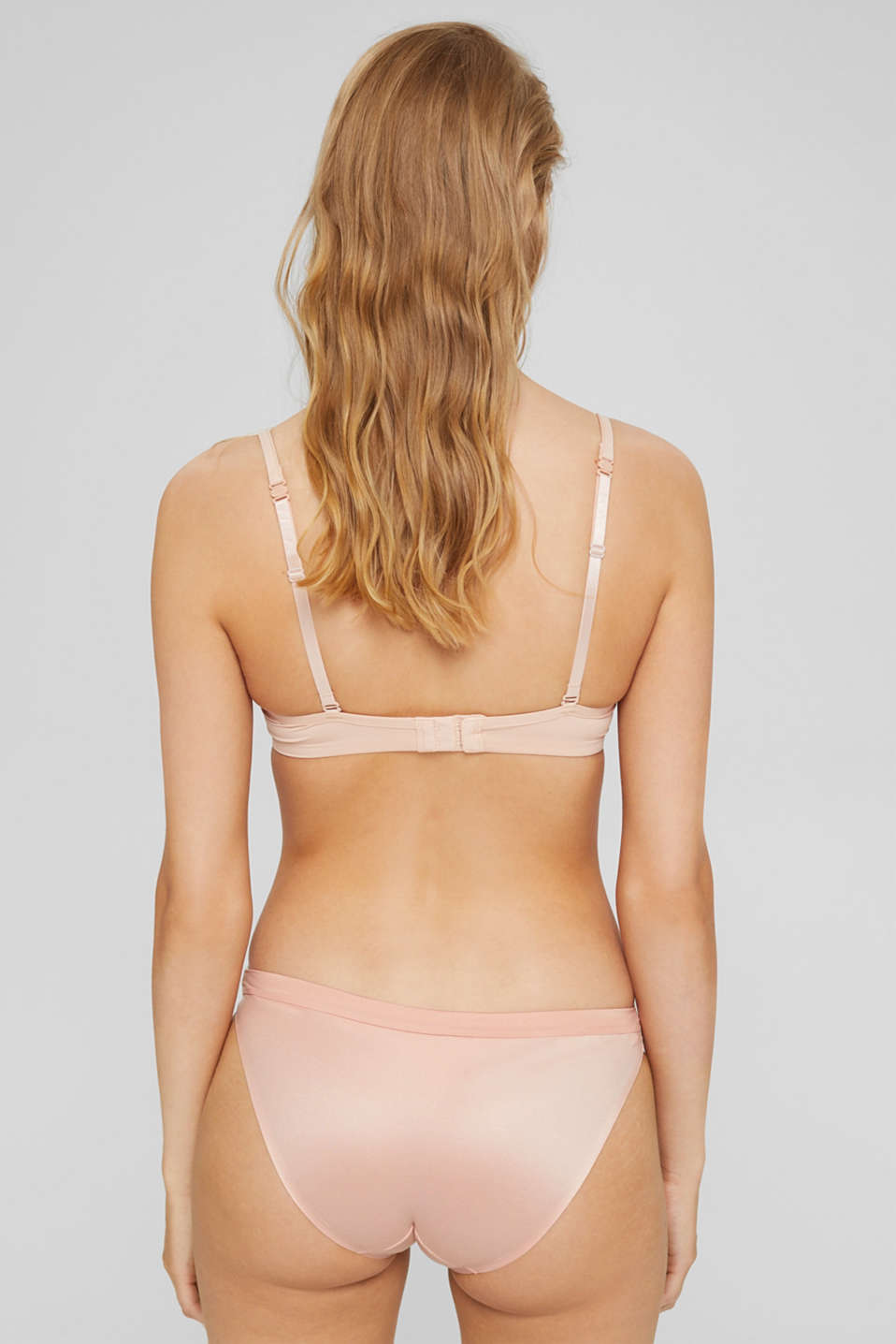 Unpadded underwire bra with a lace trim, PASTEL ORANGE, detail image number 1