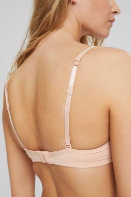 Unpadded underwire bra with a lace trim, PASTEL ORANGE, detail