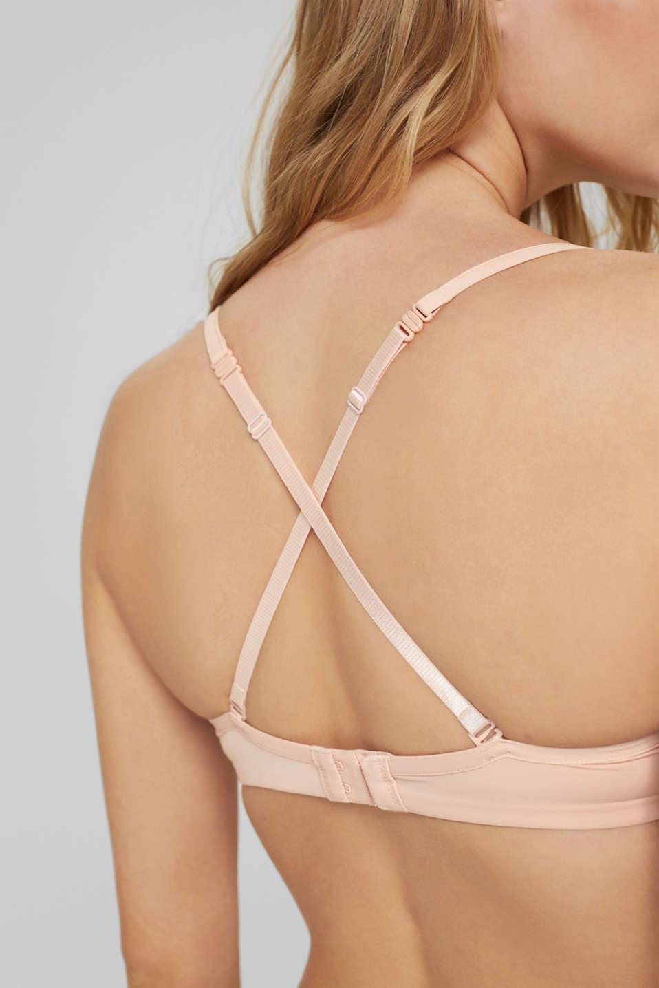 Unpadded underwire bra with a lace trim, PASTEL ORANGE, detail image number 4