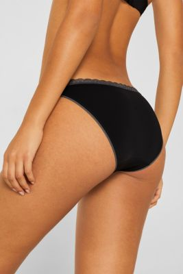 Hipster briefs with lace trim, BLACK, detail