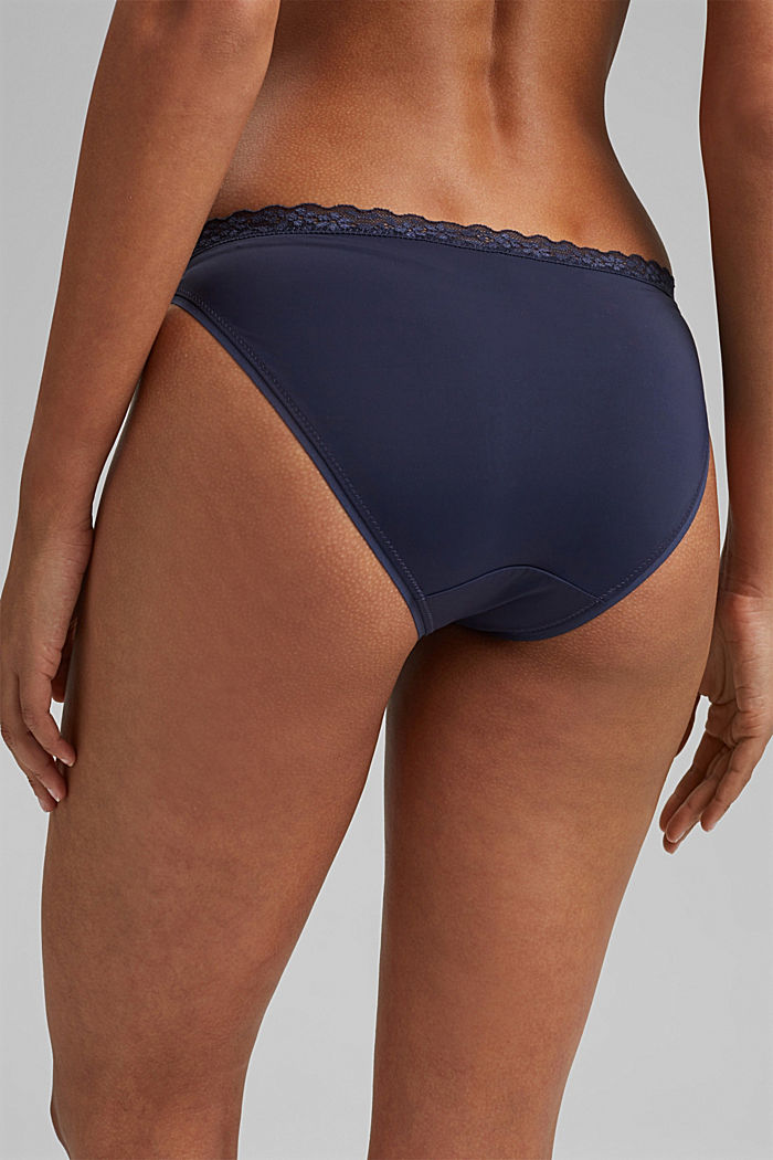 Hipster briefs with lace trim, HAPPY NAVY, detail image number 3