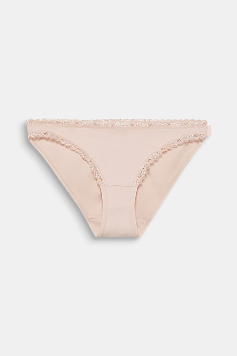 Hipster briefs with lace trim