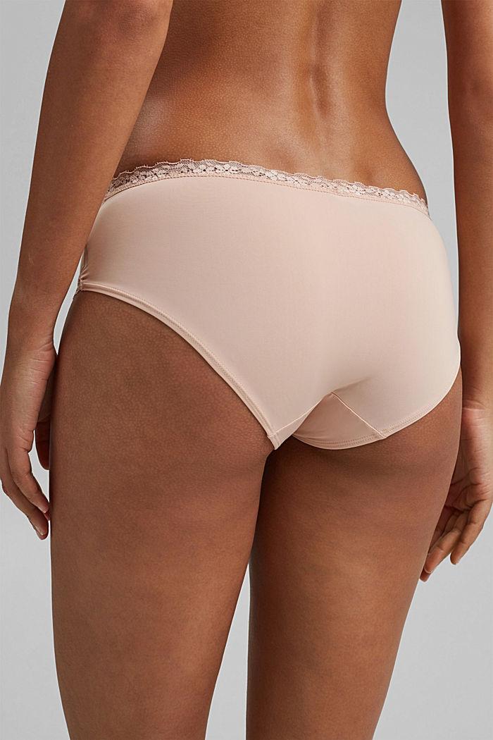 Hipster-Shorts mit Spitzendetails, PASTEL ORANGE, detail image number 3
