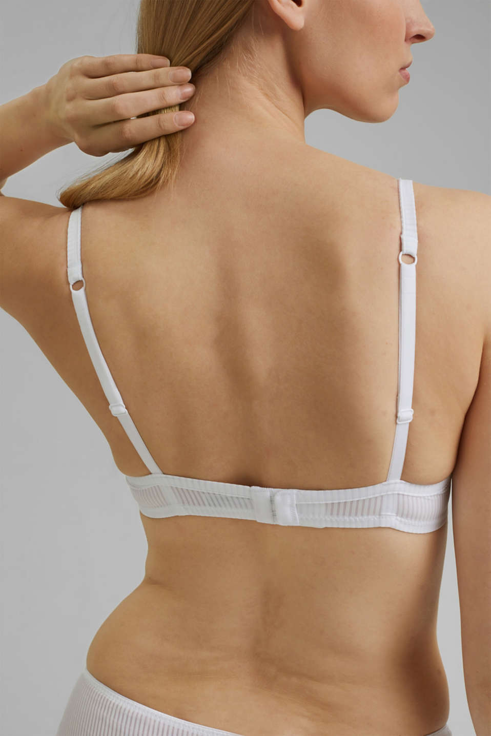 Bras with wire, WHITE, detail image number 4