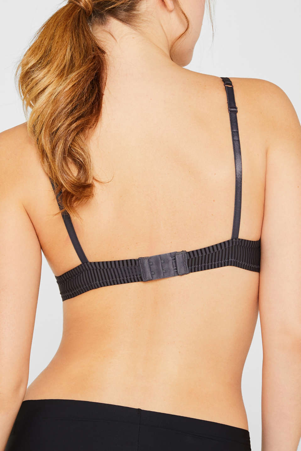 Push-up bra with textured stripes, HOT STONE, detail image number 3