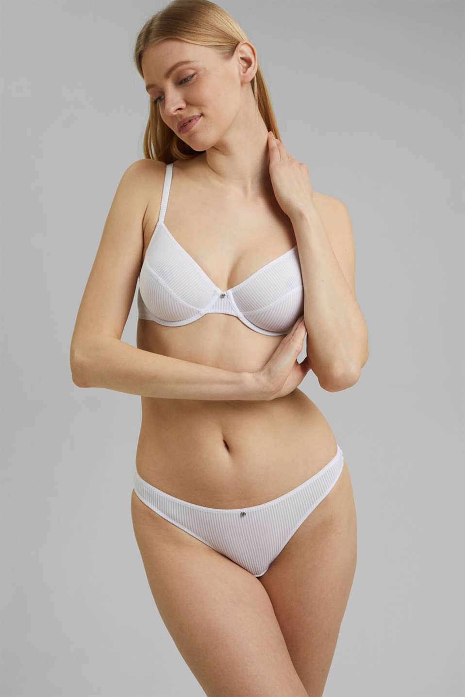 soft microfibre bra, WHITE, detail image number 0