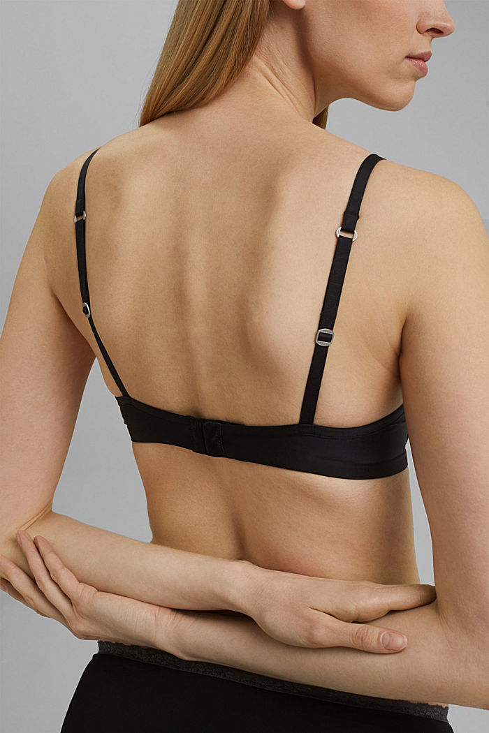 Simple T-shirt bra, BLACK, detail image number 4