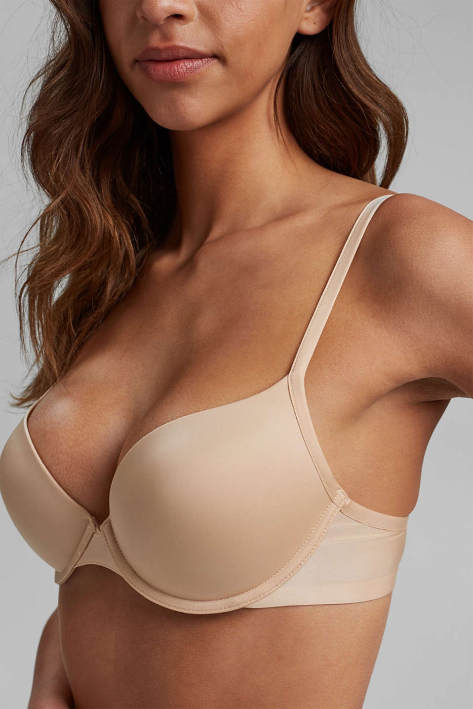 underwire T-shirt bra, DUSTY NUDE 5, detail image number 2