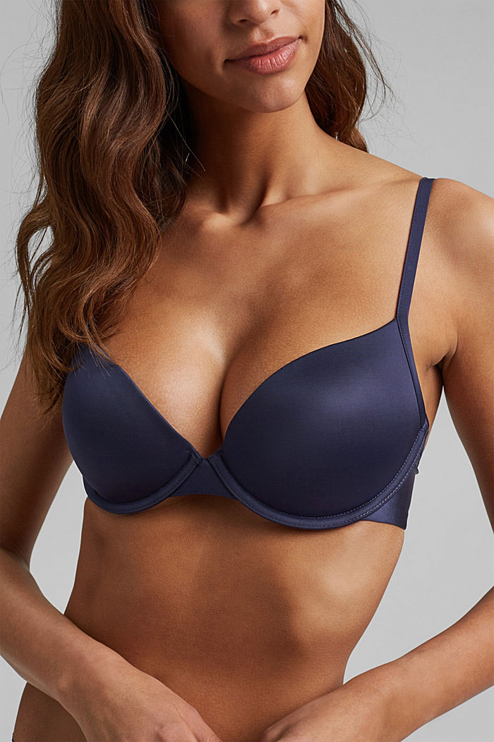 T-shirt underwire bra, HAPPY NAVY, detail image number 2
