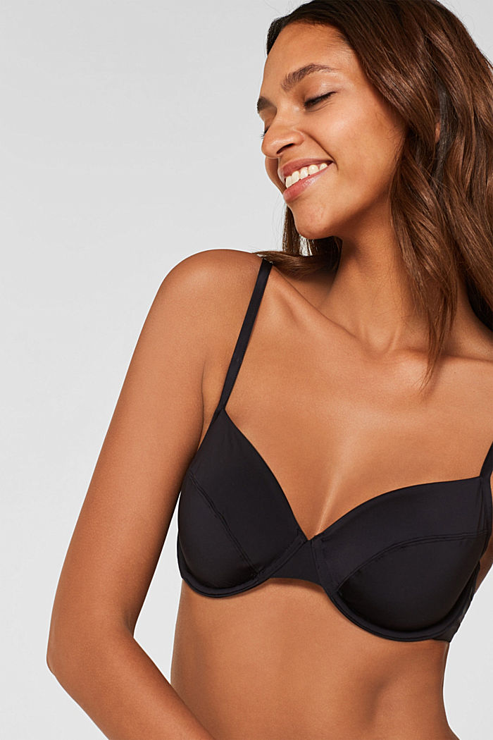 Smooth T-shirt bra, BLACK, overview