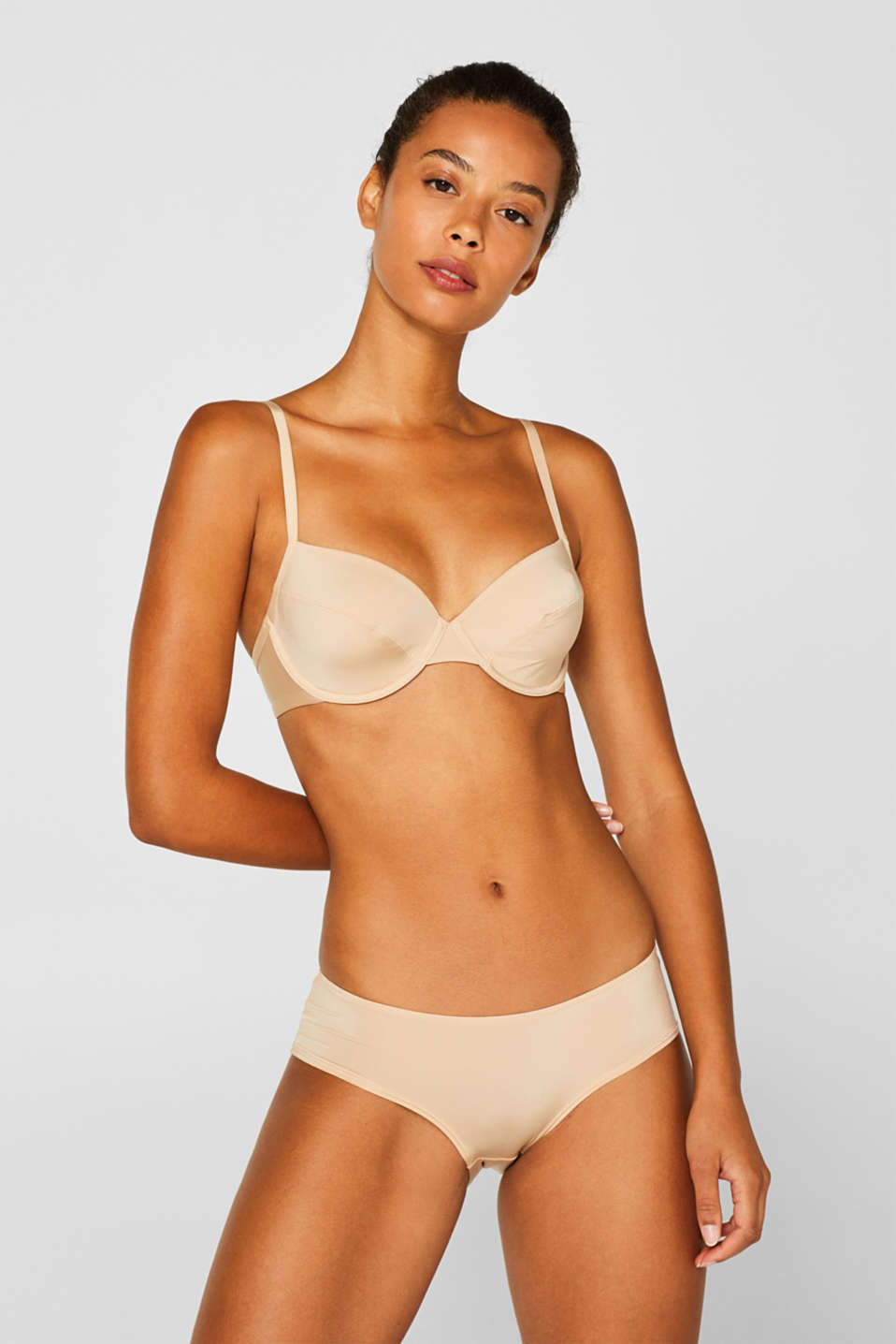 silky T-shirt bra, DUSTY NUDE 5, detail image number 0