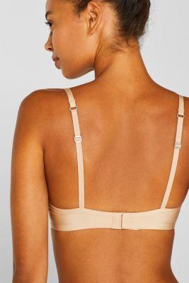 silky T-shirt bra, DUSTY NUDE 5, detail