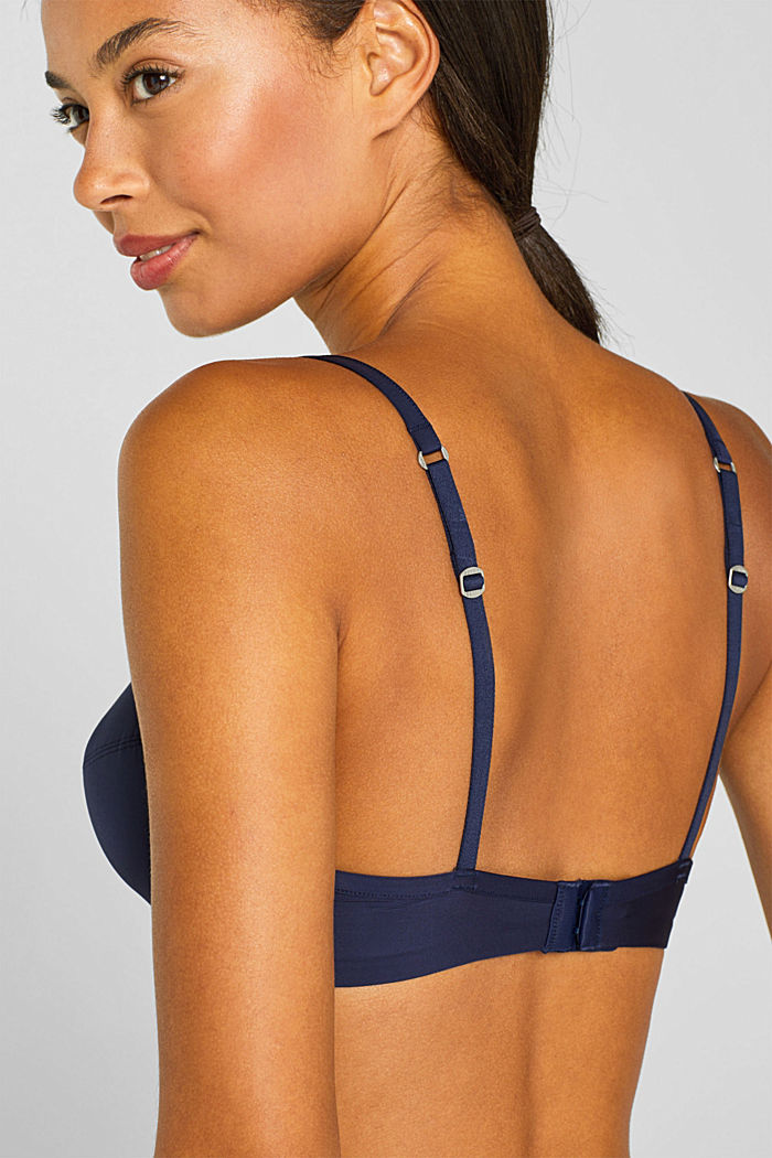 Smooth T-shirt bra, HAPPY NAVY, detail image number 4