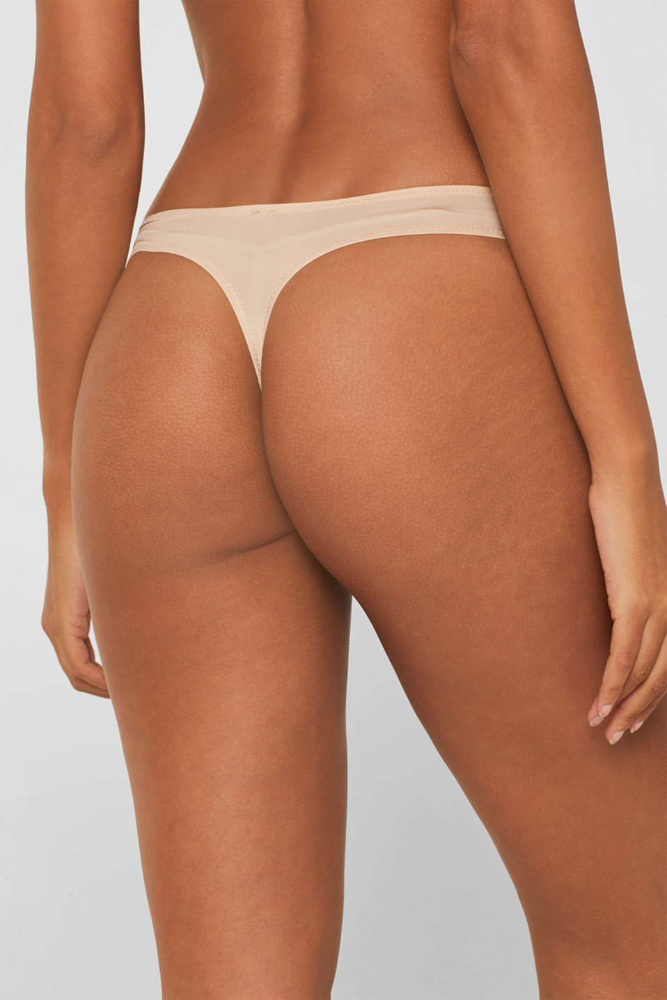 delicate microfibre thong, DUSTY NUDE 5, detail image number 4