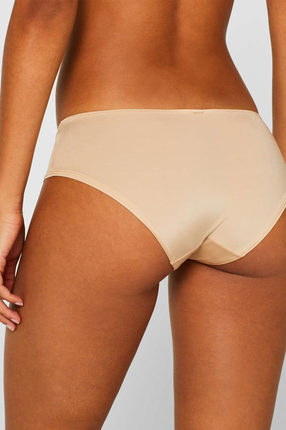 Soft and smooth microfibre shorts, DUSTY NUDE 5, detail image number 3