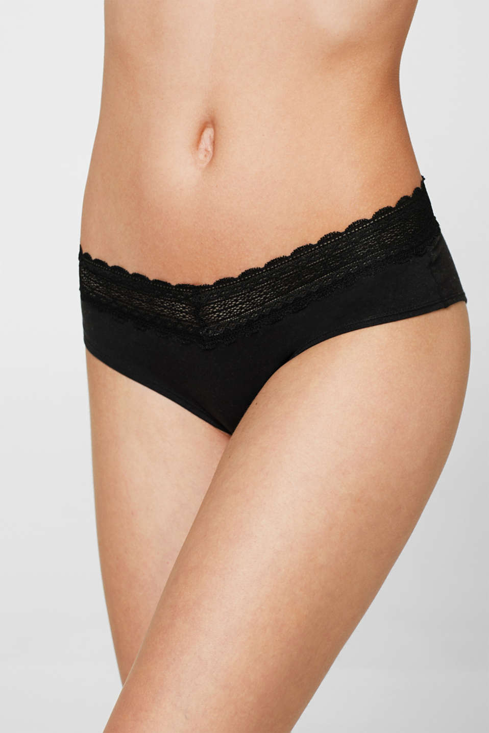 double pack of shorts with a lace waistband