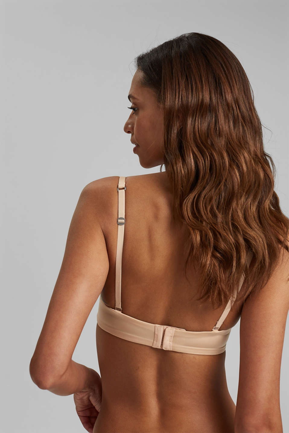 Underwire bra with detachable straps, DUSTY NUDE 5, detail image number 1