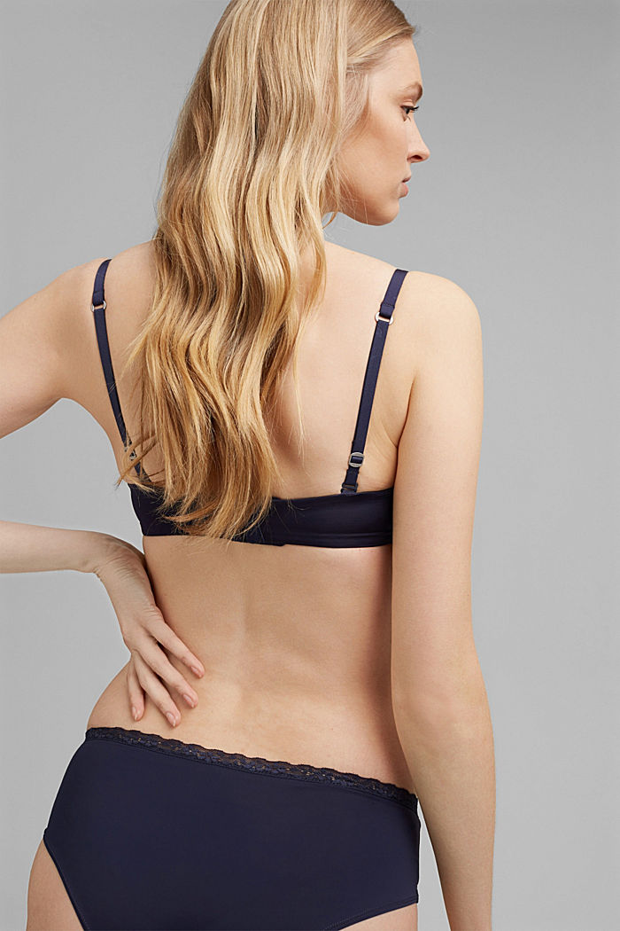Underwire bra with detachable straps, HAPPY NAVY, detail image number 1