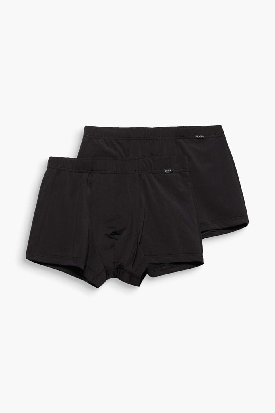 Esprit - 2er-Pack Microfaser-Shorts mit Stretch
