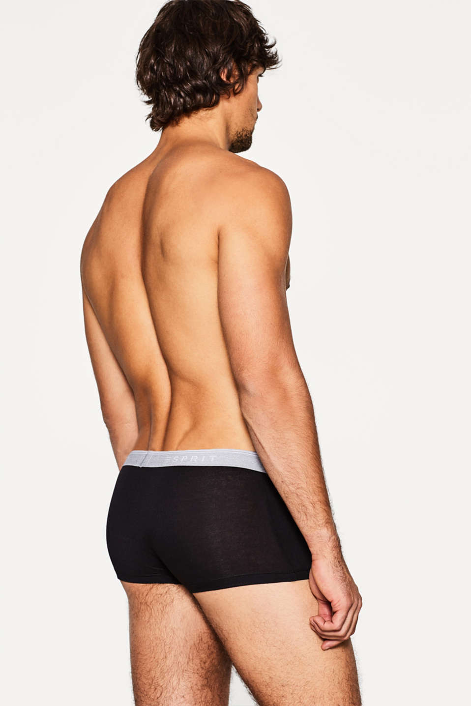 Stretch cotton hipster shorts, BLACK, detail image number 1