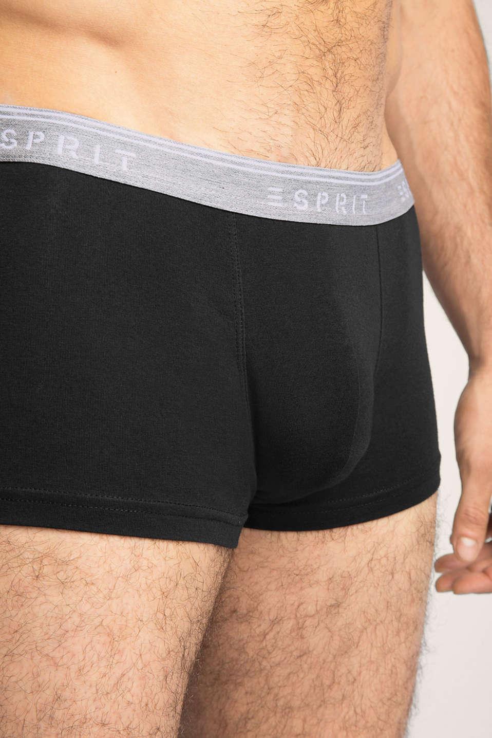 Stretch cotton hipster shorts, BLACK, detail image number 2