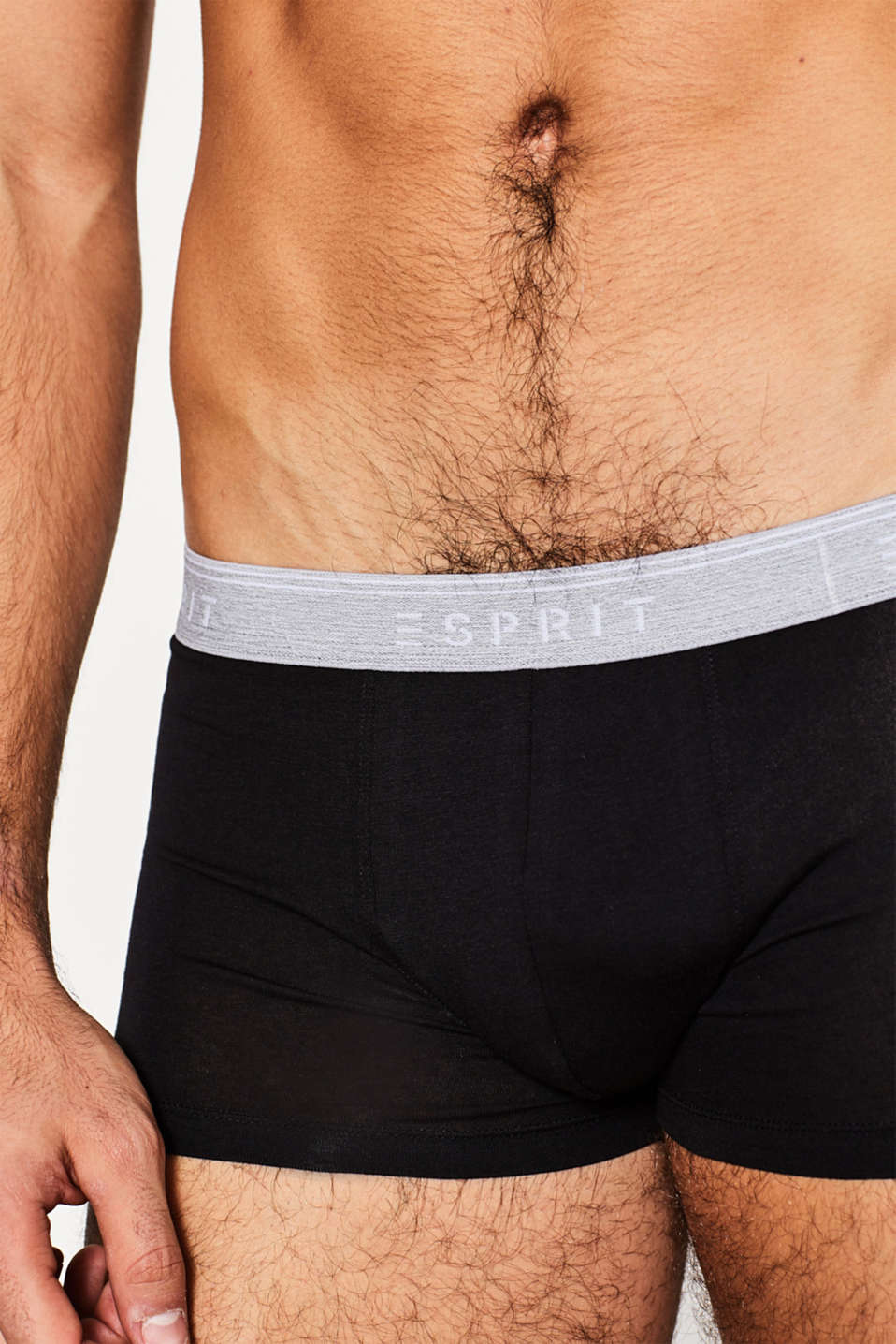 Stretch cotton hipster shorts, BLACK, detail image number 3