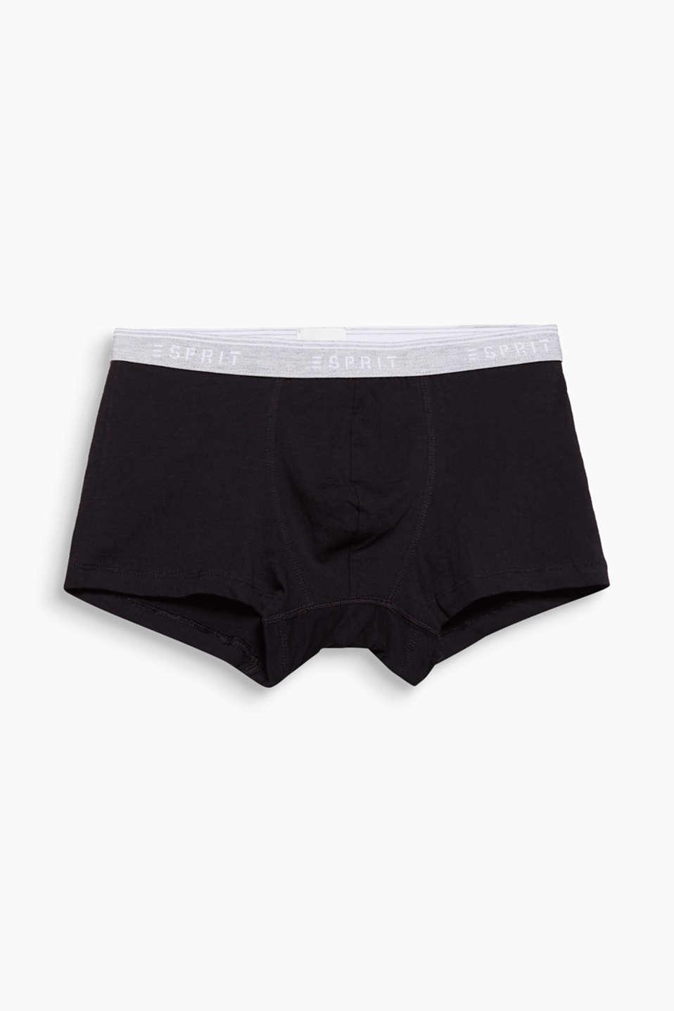 Stretch cotton hipster shorts, BLACK, detail image number 4