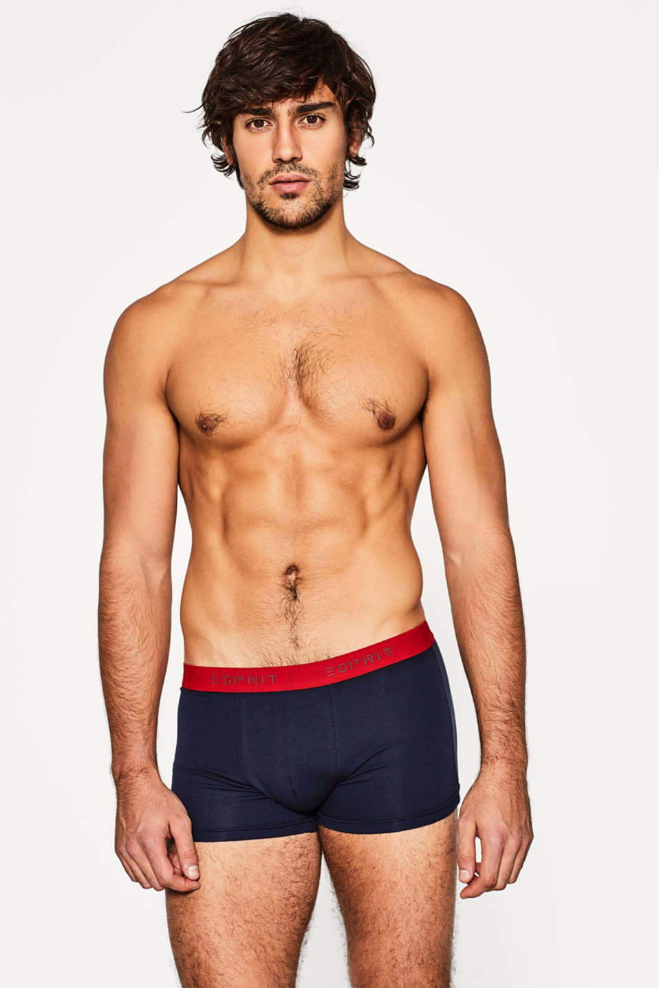3 pack of stretch, contrasting hipster shorts, NAVY, detail image number 0
