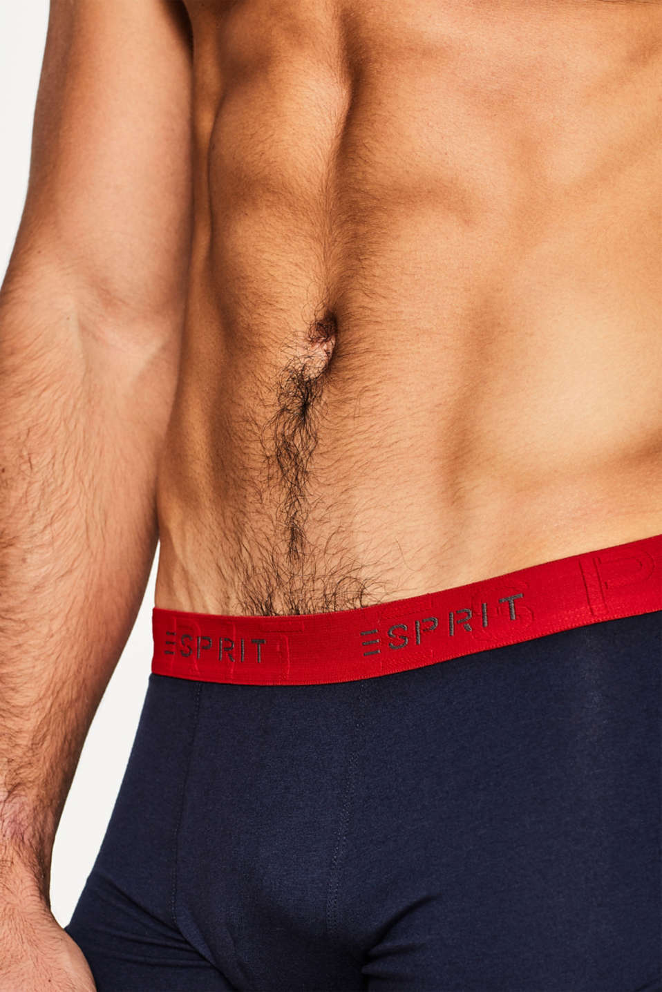 3 pack of stretch, contrasting hipster shorts, NAVY, detail image number 2