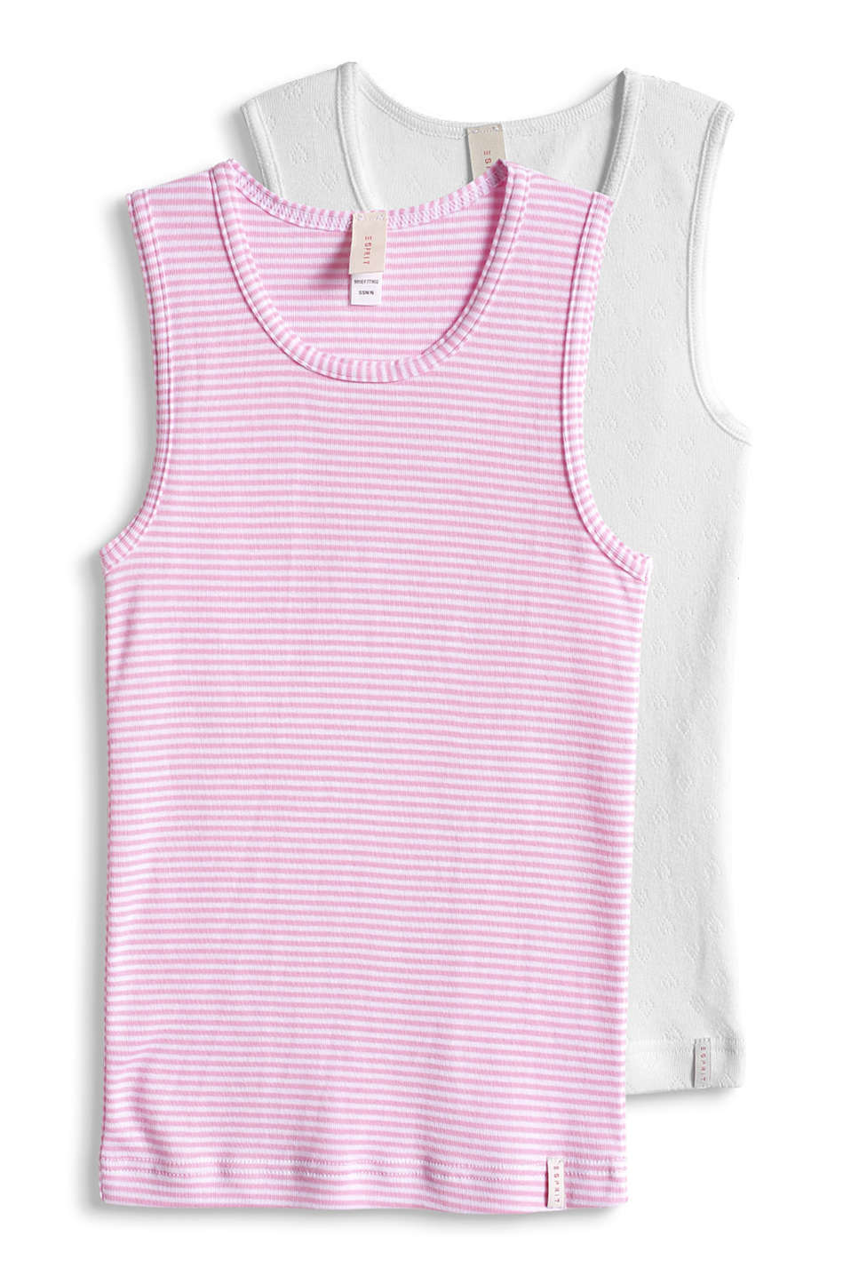 Esprit - double pack of vests, 100% cotton
