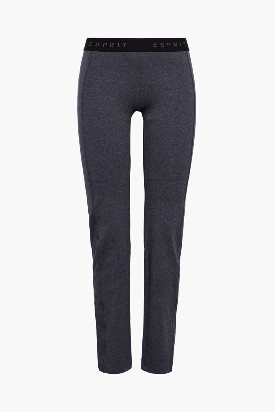 Esprit - cotton-stretch jersey sports trousers
