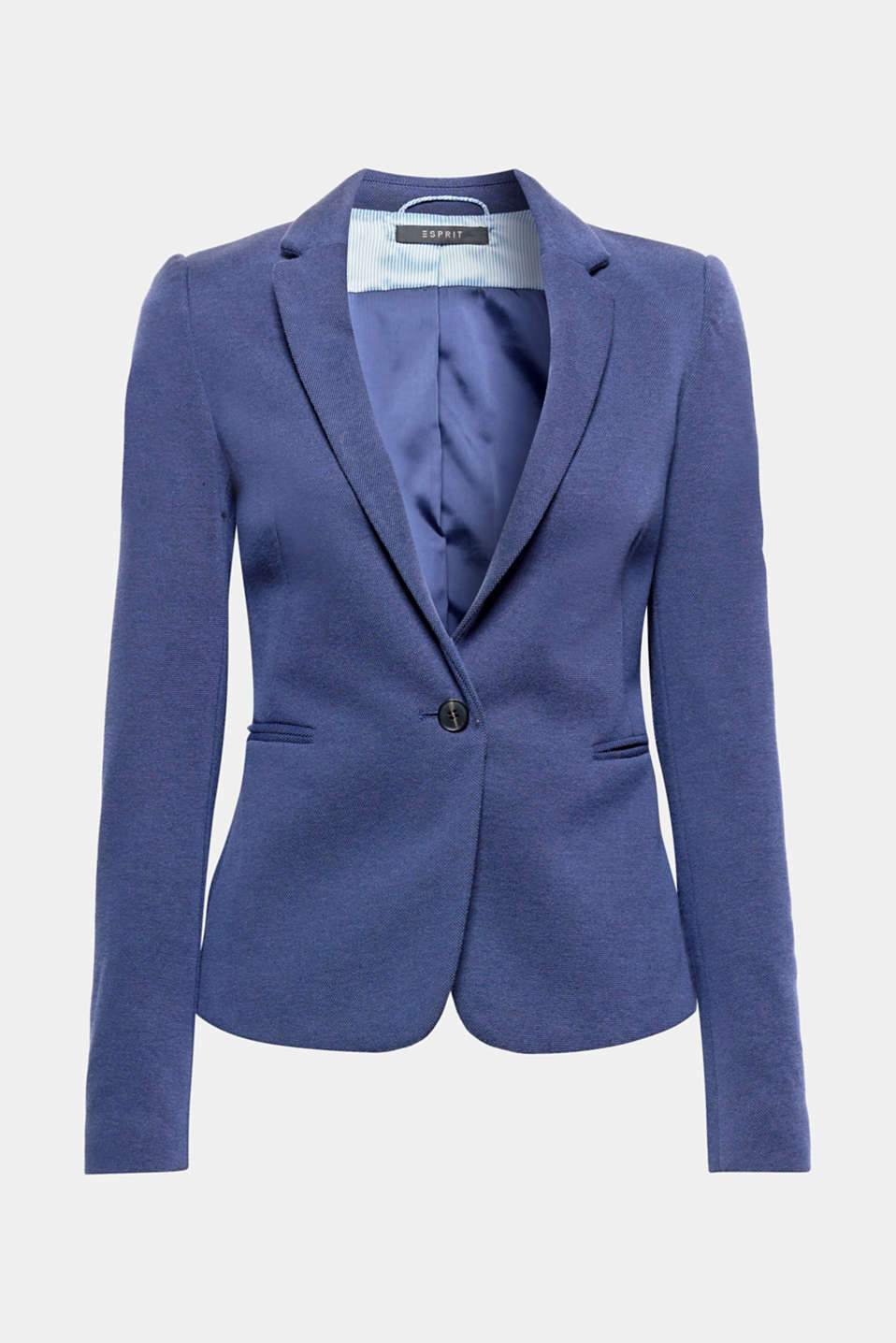 Esprit stretch piqué jersey blazer at our Online Shop