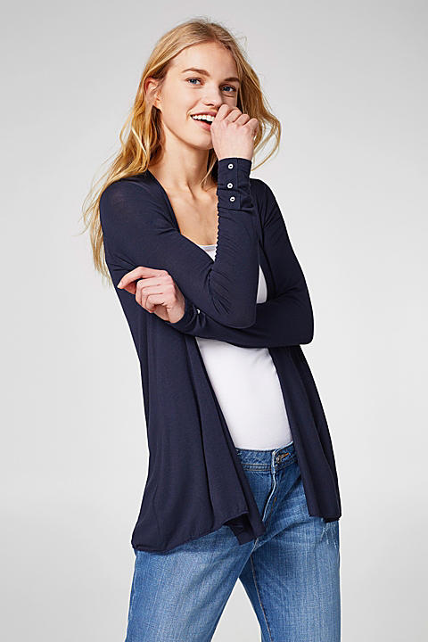 Offener Jersey-Stretch-Cardigan