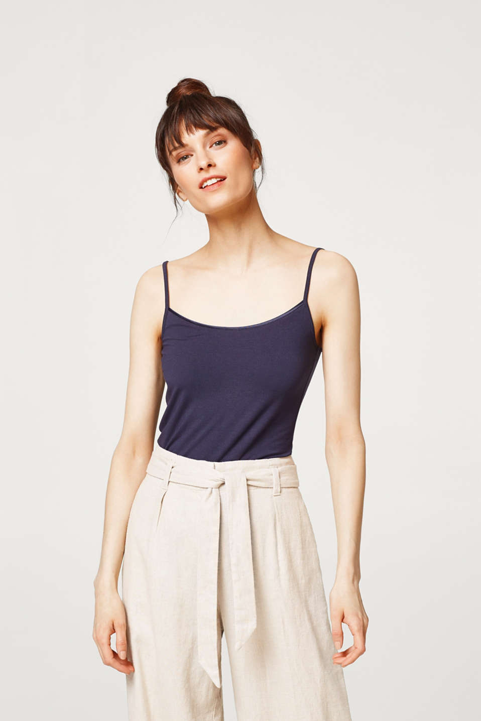 Esprit - basic stretch jersey spaghetti strap top