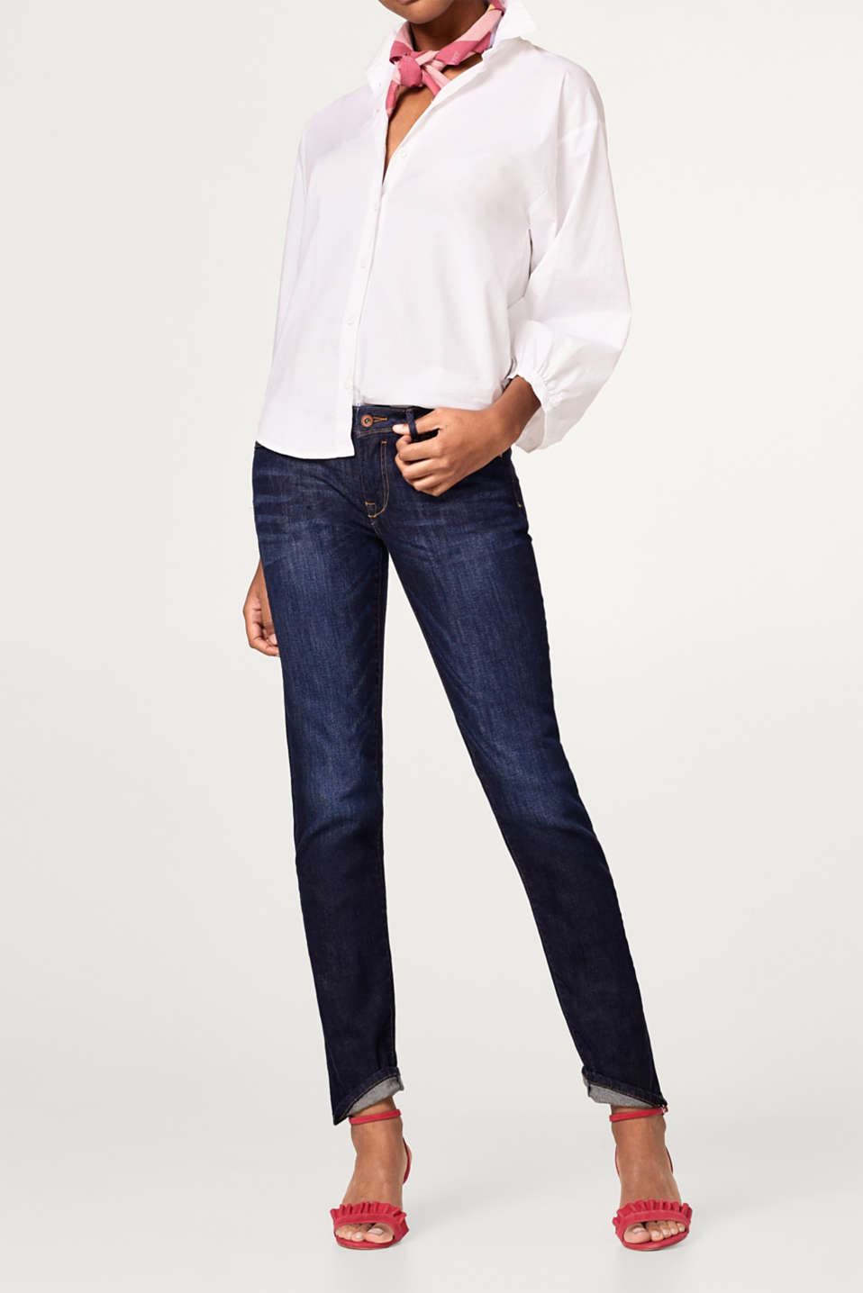 edc - Washed basic stretch jeans