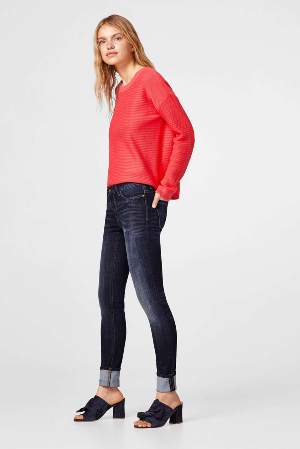 Basic jeans van stretchdenim