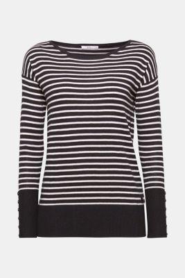 edc - Randig tröja med breda muddar i Esprits Online-Shop 2c3dd3bbbea97