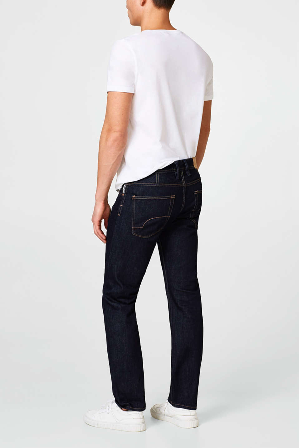 5 pocket-jeans, non stretch-denim.