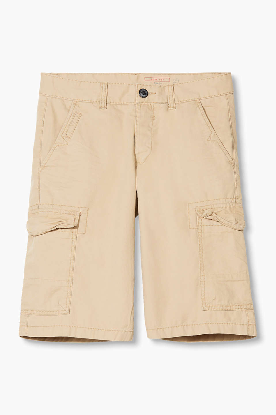 edc - Cargo bermudas, 100% cotton