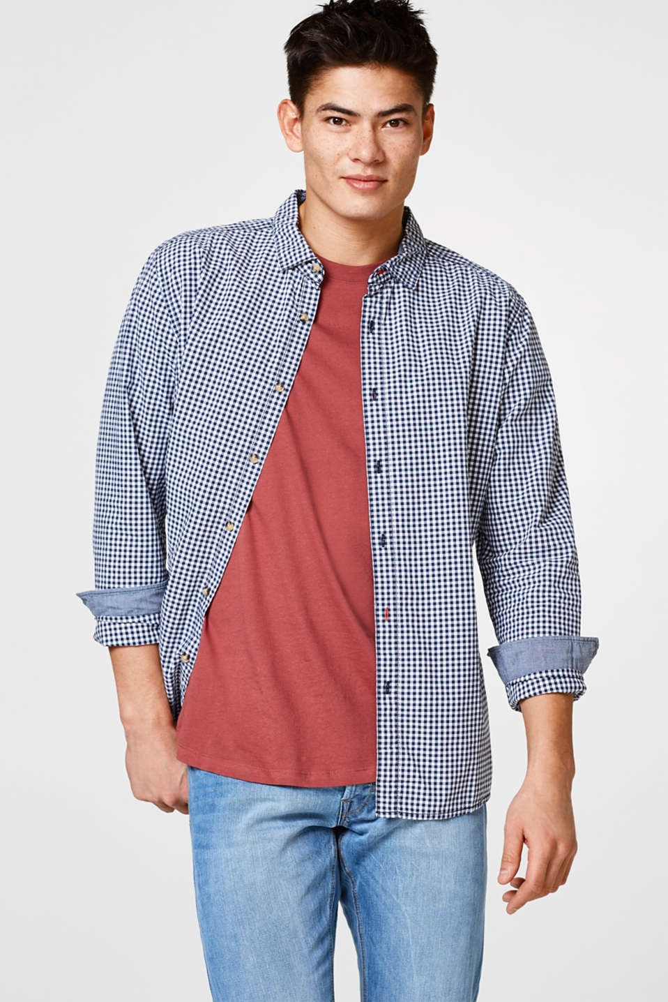 edc - Checked shirt in cotton