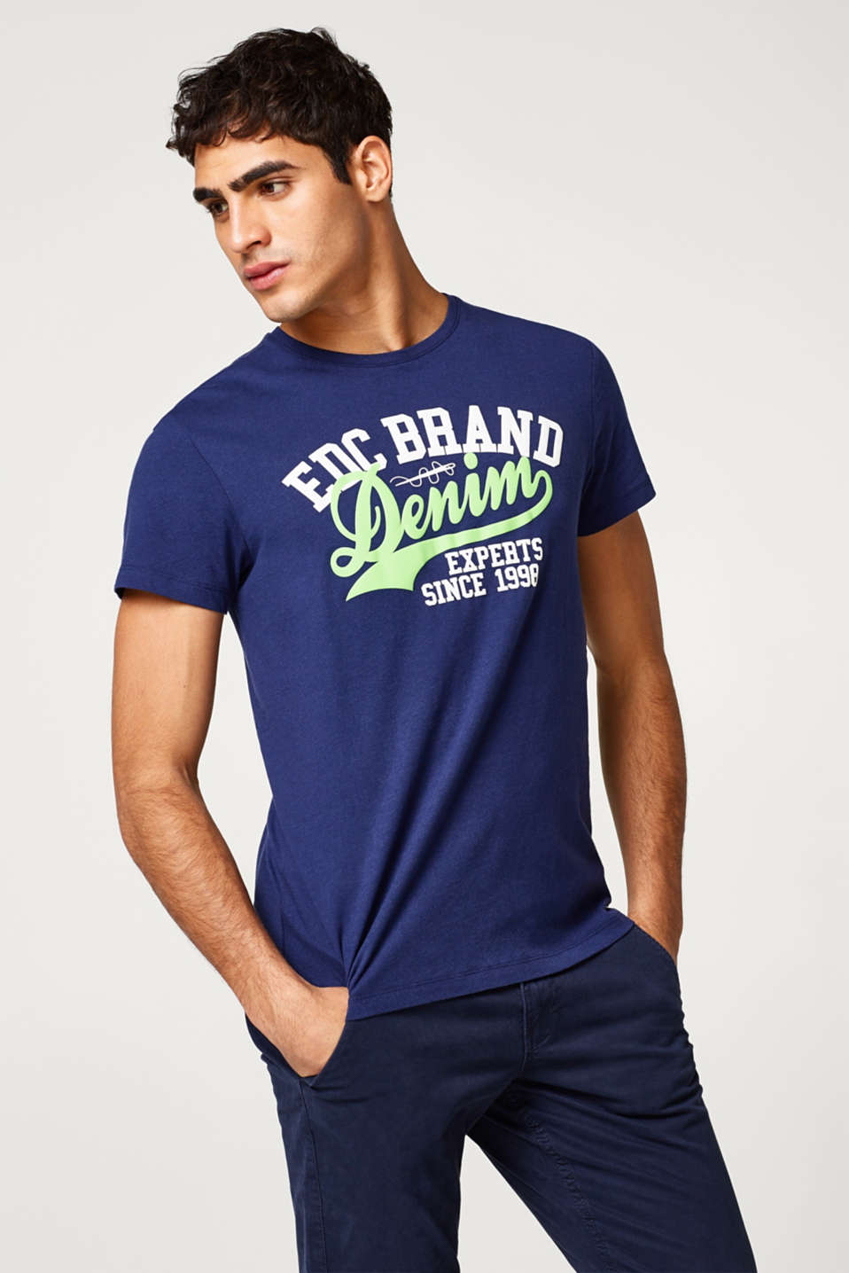 edc - Cotton jersey print T-shirt
