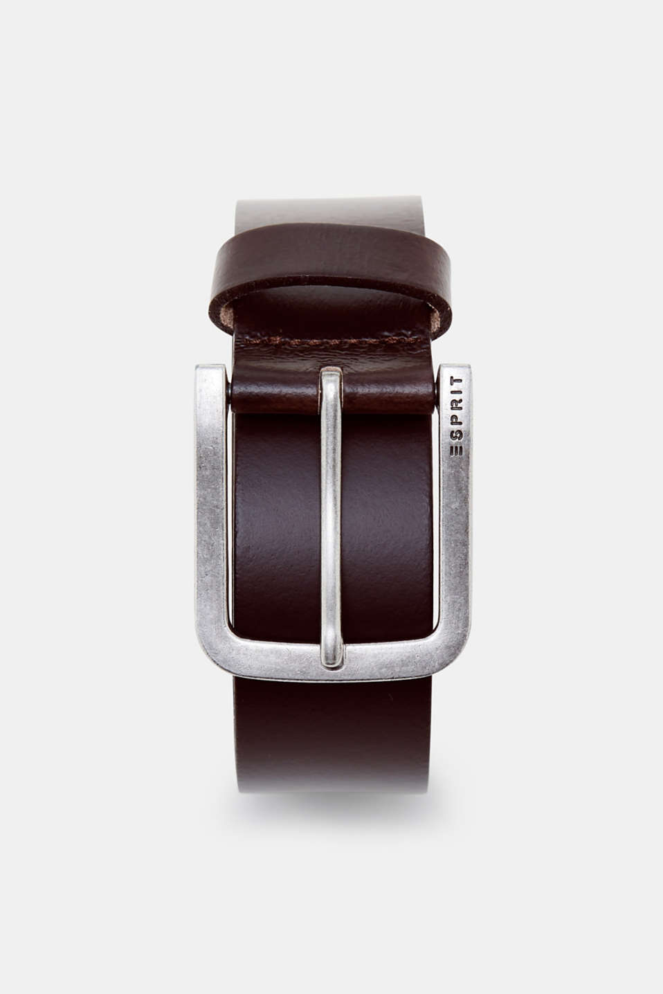 Esprit - Basic belt in smooth cowhide leather
